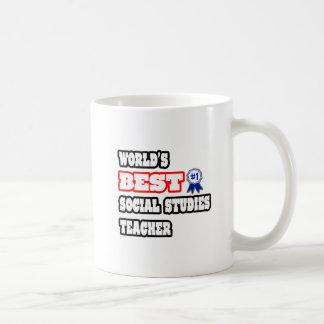 World's Best Social Studies Teacher Classic White Coffee Mug