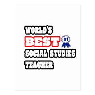 World's Best Social Studies Teacher Postcard