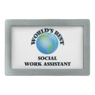 World's Best Social Work Assistant Belt Buckle