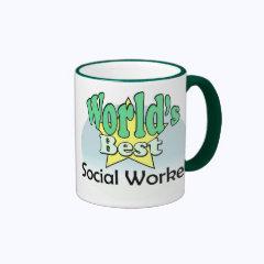 World's best Social Worker Ringer Coffee Mug