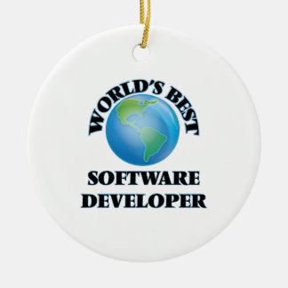World's Best Software Developer Christmas Tree Ornament