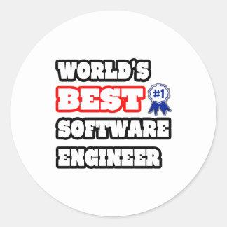 World's Best Software Engineer Classic Round Sticker