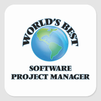 World's Best Software Project Manager Square Sticker