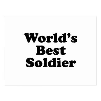 World's Best Soldier Postcard