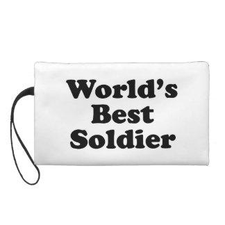 World's Best Soldier Wristlet Purse