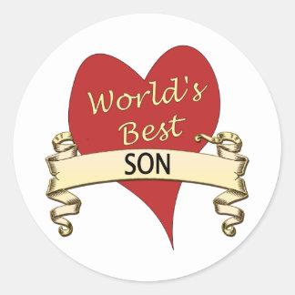 World's Best Son Classic Round Sticker