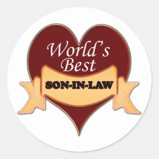 World's Best Son-In-Law Classic Round Sticker