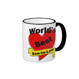 World's Best Son-In-Law Ringer Coffee Mug