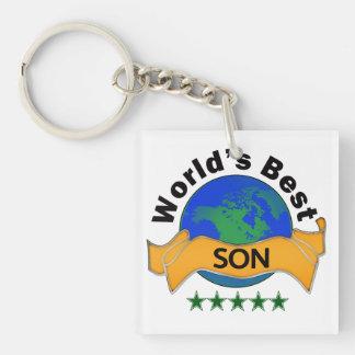 World's Best Son Keychain