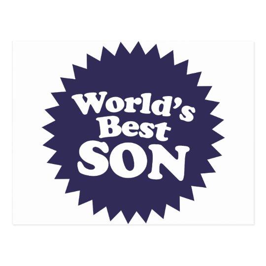 World's Best Son Postcard