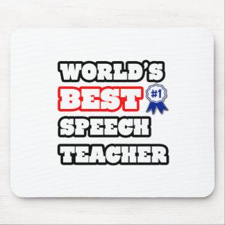World's Best Speech Teacher Mousepads