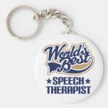 Worlds Best Speech Therapist Basic Round Button Keychain