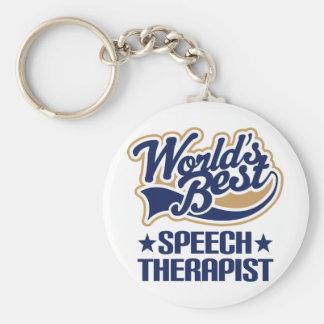 Worlds Best Speech Therapist Keychain
