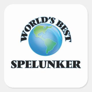 World's Best Spelunker Square Stickers