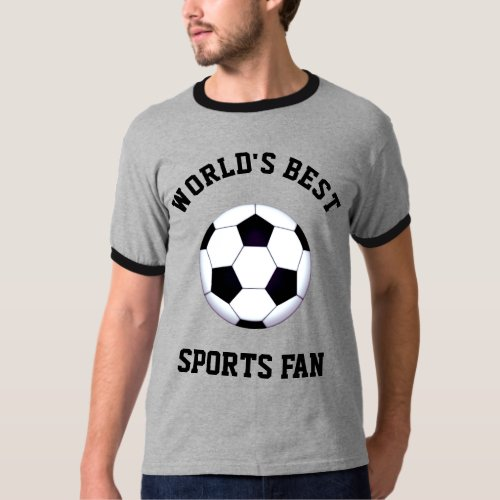Worlds Best Sports Fan Dark Ringer T_Shirt