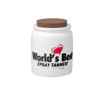 World's Best Spray Tanner Candy Jar