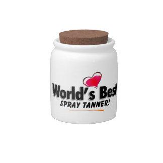 World's Best Spray Tanner Candy Jar