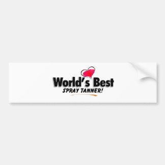 World's Best Spray Tanner Products Car Bumper Sticker