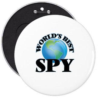 World's Best Spy 6 Inch Round Button