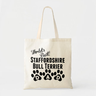 World's Best Staffordshire Bull Terrier Dad Budget Tote Bag
