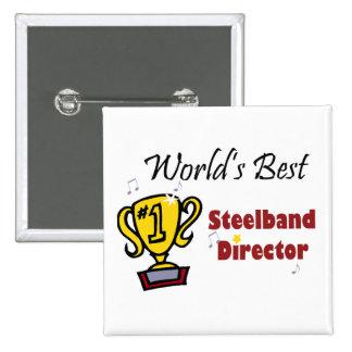 World's Best Steelband Director Pinback Button