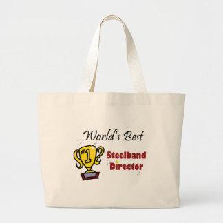 World's Best Steelband Director Tote Jumbo Tote Bag