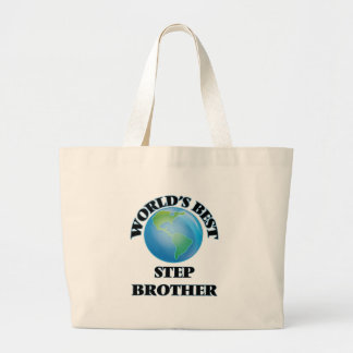 World's Best Step-Brother Canvas Bags