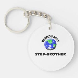 World's Best Step-Brother Single-Sided Round Acrylic Keychain