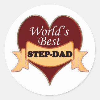 World's Best Step-Dad Classic Round Sticker