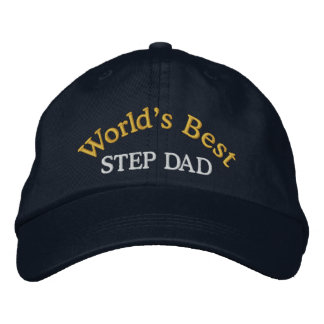 World's Best Step Dad Embroidered Baseball Cap/Hat Embroidered Baseball Cap