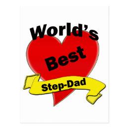 World's Best Step-Dad Postcard