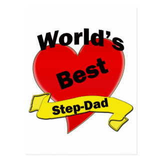 World's Best Step-Dad Postcard