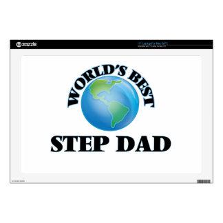 """World's Best Step-Dad 17"""" Laptop Skin"""