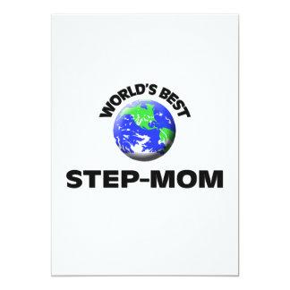 World's Best Step-Mom 5x7 Paper Invitation Card