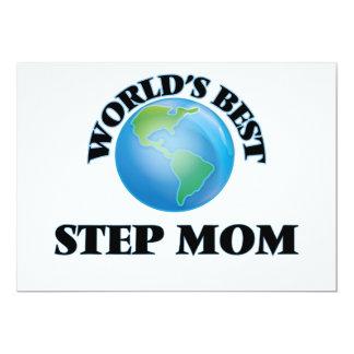 "World's Best Step-Mom 5"" X 7"" Invitation Card"