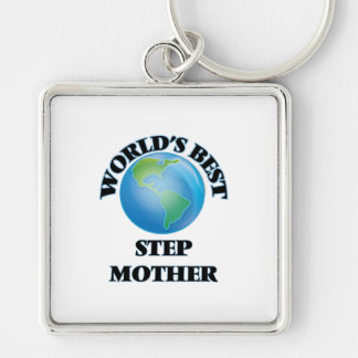 World's Best Step-Mother Silver-Colored Square Keychain