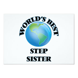 World's Best Step-Sister 5x7 Paper Invitation Card