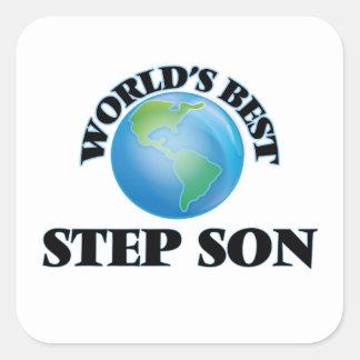 World's Best Step-Son Square Sticker