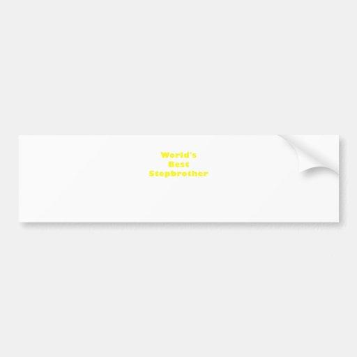 Worlds Best Stepbrother Bumper Stickers