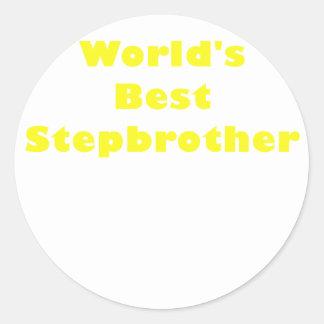Worlds Best Stepbrother Classic Round Sticker
