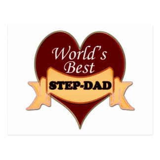 World's Best Stepdad Postcard
