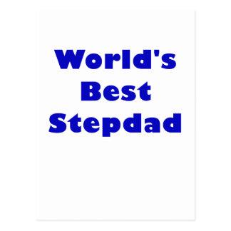 Worlds Best Stepdad Postcard