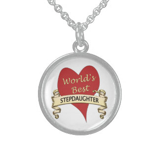 World's Best Stepdaughter Round Pendant Necklace