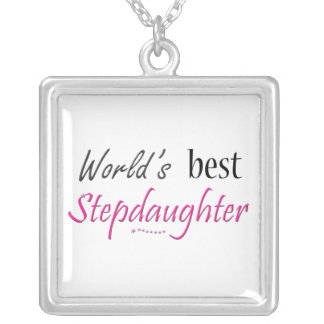 World's Best Stepdaughter Silver Plated Necklace