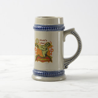 World's Best Stepfather Father's Day Gift Beer Stein