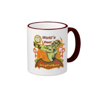 World's Best Stepfather Father's Day Gift Ringer Coffee Mug