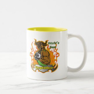 World's Best Stepfather Father's Day Gift Two-Tone Coffee Mug