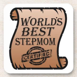 World's Best Stepmom Certified Certificate Funny Coaster