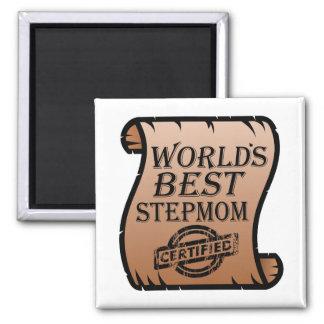 World's Best Stepmom Certified Certificate Funny Magnet