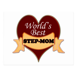 World's Best Stepmom Postcard